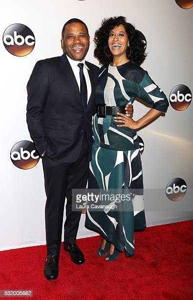 Anthony Anderson and Tracee Ellis Ross attend 2016 ABC Upfront at David Geffen Hall on May 17 2016 in New York City