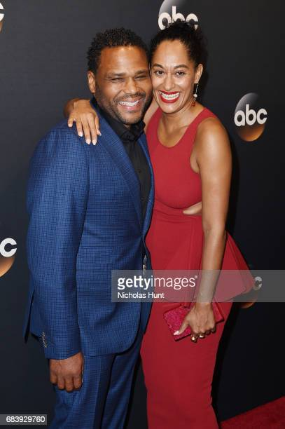 Anthony Anderson and Tracee Ellis Ross attend the 2017 ABC Upfront on May 16 2017 in New York City