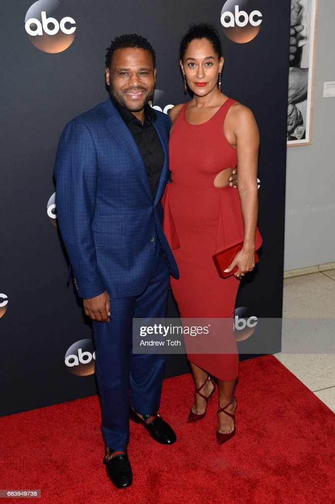 Anthony Anderson and Tracee Ellis Ross attend the 2017 ABC Upfront on May 16, 2017 in New York City.