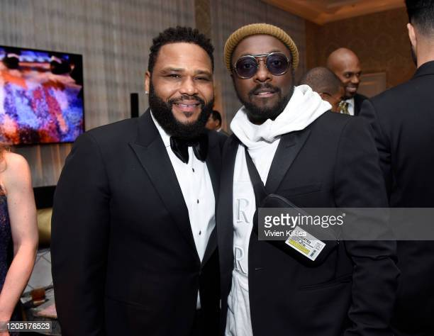 Anthony Anderson and william attend the MercedesBenz Academy Awards Viewing Party at The Four Seasons Hotel Los Angeles at Beverly Hills on February...