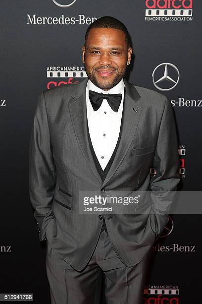 Anthony Anderson arrives at the MercedesBenz and African American Film Critics Association Oscar viewing party at Four Seasons Hotel Beverly Hills on...