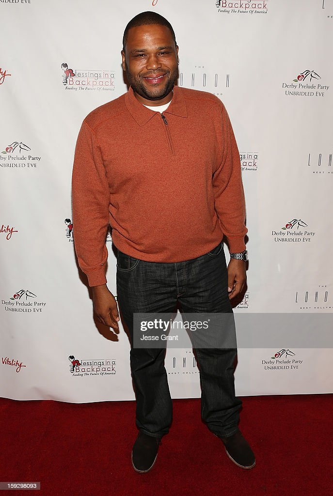 Anthony Anderson attends The 4th Annual Unbridled Eve Derby Prelude Party at The London West Hollywood on January 10, 2013 in West Hollywood, California.