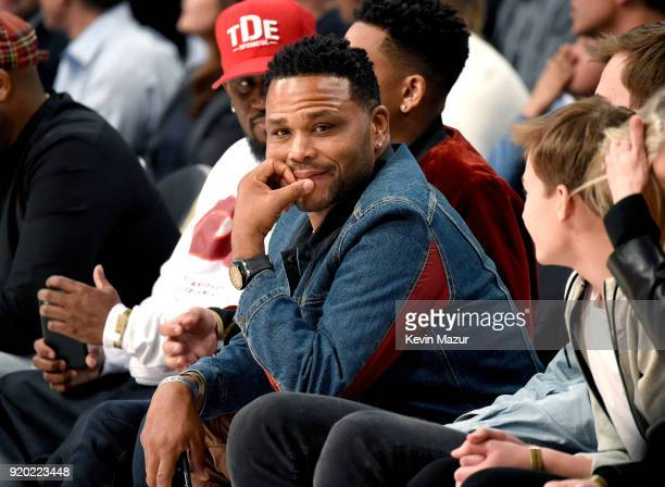 Anthony Anderson attends the 67th NBA AllStar Game Team LeBron Vs Team Stephen at Staples Center on February 18 2018 in Los Angeles California