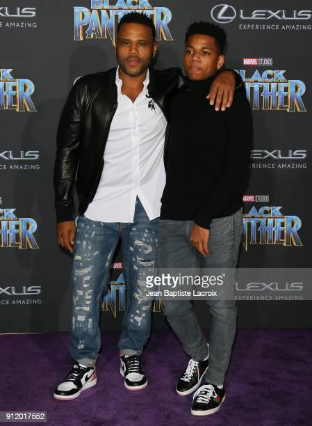 Anthony Anderson attends the premiere of Disney and Marvel's 'Black Panther' on January 28 2018 in Los Angeles California