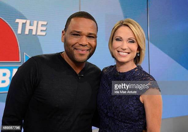 """Anthony Anderson from """"Black-ish"""" is a special guest correspondent on GOOD MORNING AMERICA, 9/22/15, airing on the Walt Disney Television via Getty..."""