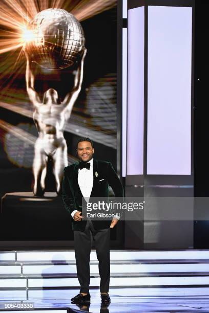 Anthony Anderson speaks onstage at the 49th NAACP Image Awards on January 15 2018 in Pasadena California