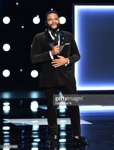 Anthony Anderson speaks onstage at the 50th NAACP Image Awards at Dolby Theatre on March 30 2019 in Hollywood California