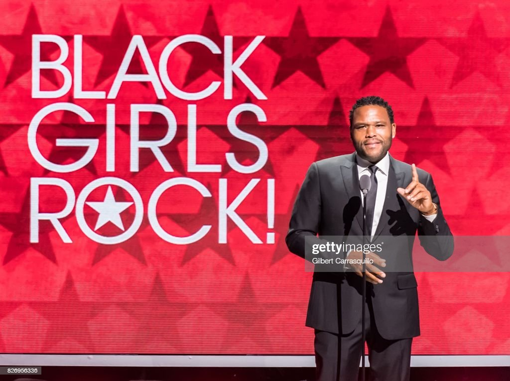 Anthony Anderson speaks onstage during Black Girls Rock! 2017 at New Jersey Performing Arts Center on August 5, 2017 in Newark, New Jersey.