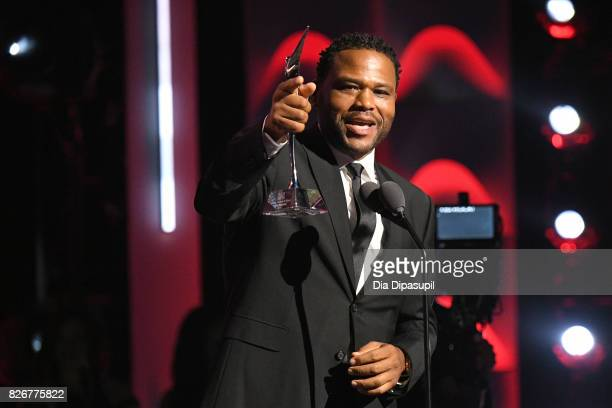 Anthony Anderson speaks onstage during Black Girls Rock 2017 at NJPAC on August 5 2017 in Newark New Jersey