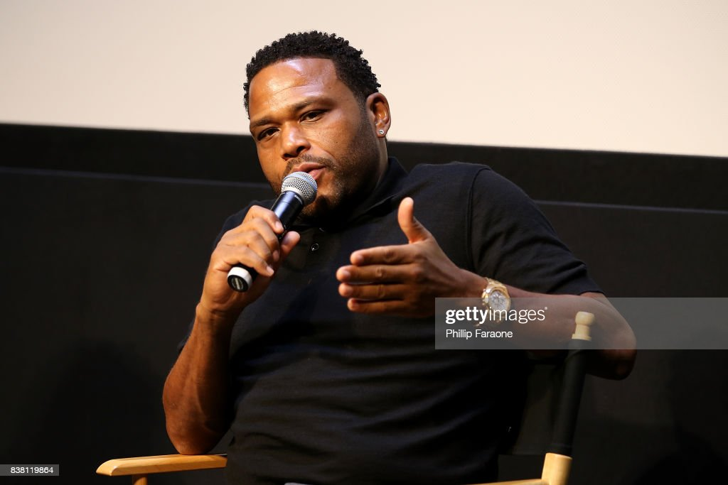 Anthony Anderson speaks onstage during UTA celebrates Anthony Anderson on his Emmy nomination for his work on 'Black-ish' at UTA on August 23, 2017 in Beverly Hills, California.