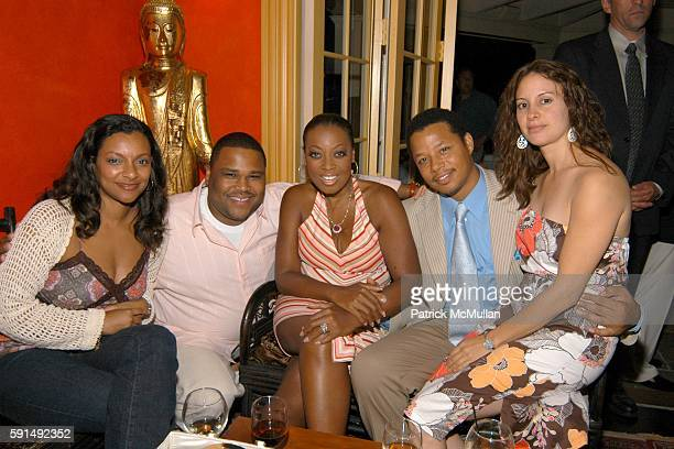 Anthony Anderson Star Jones Terrence Howard and Lori Howard attend Hamptons Film Festival and Elle Magazine present a special screening of Hustle...