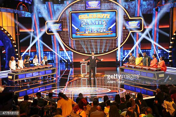 FEUD Anthony Anderson vs Toni Braxton and Monica Potter vs Curtis Stone The series premiere of Celebrity Family Feud will feature actor Anthony...