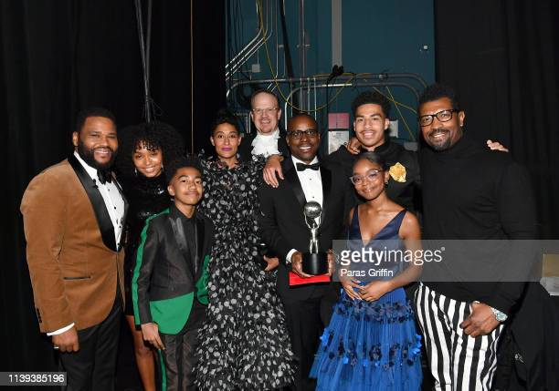 Anthony Anderson Yara Shahidi Miles Brown Tracee Ellis Ross Peter Mackenzie Brian Dobbins Marcus Scribner Marsai Martin and Deon Cole winners of...