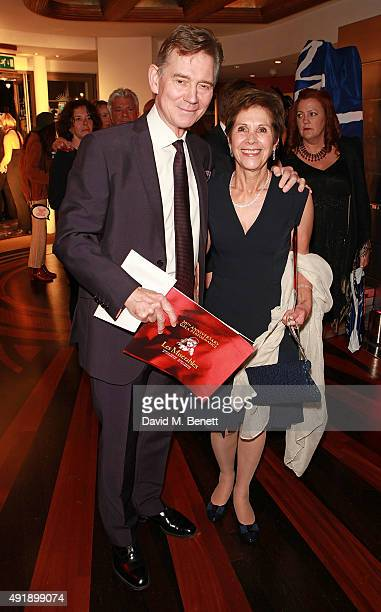 Anthony Andrews and Georgina Simpson attend the Les Miserables 30th anniversary gala performance at the Queen's Theatre on October 8 2015 in London...