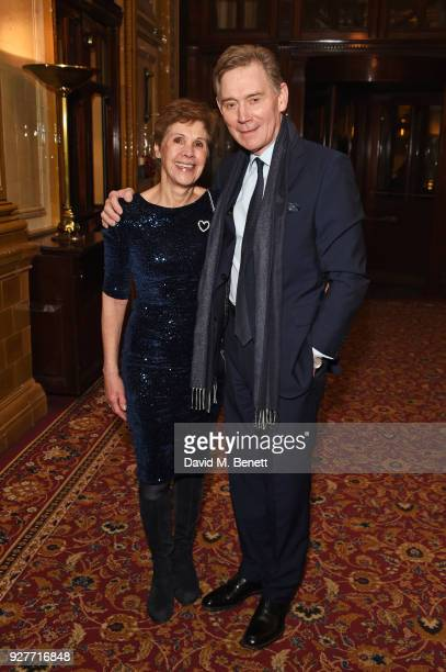 Anthony Andrews and Georgina Simpson attend the press night after party for 'The Best Man' at The Royal Horseguards Hotel on March 5 2018 in London...
