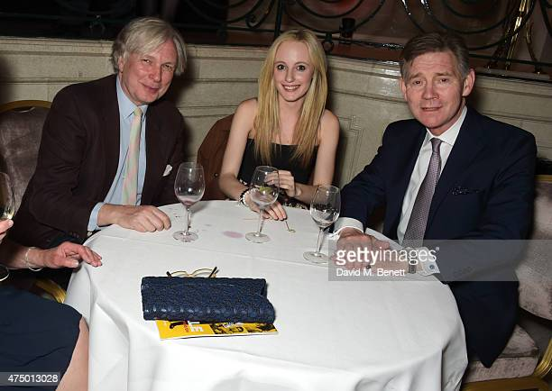 Anthony Andrews and guests attend an after party following the press night performance of 'Just Jim Dale' at The Waldorf Hilton Hotel on May 28 2015...