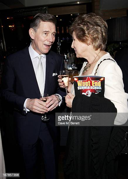 Anthony Andrews and Norma Major attend an after party celebrating the press night performance of the Menier Chocolate Factory's 'Merrily We Roll...