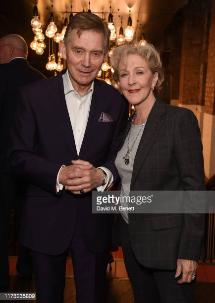 Anthony Andrews and Patricia Hodge attend the press night performance of A Day In The Death Of Joe Egg at the Trafalgar Studios on October 2 2019 in...