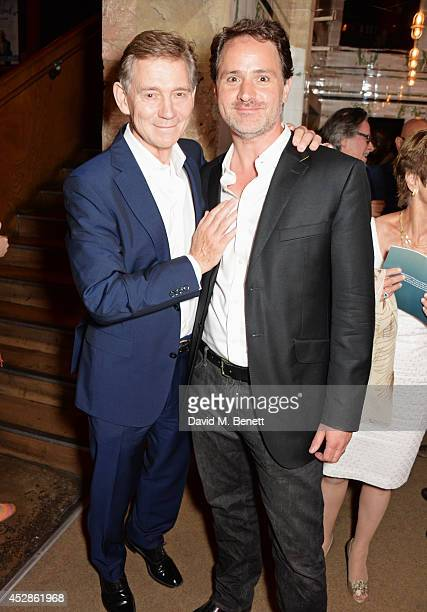 Anthony Andrews and producer Joshua Andrews attend an after party following the press night performance of 'A Streetcar Named Desire' at The Young...