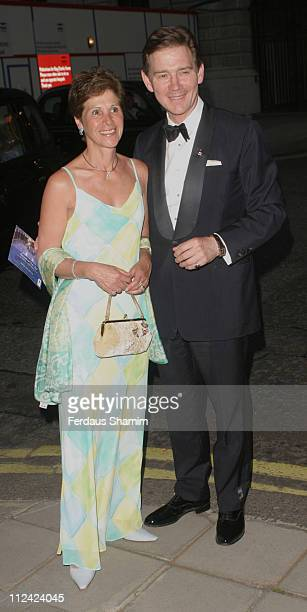 Anthony Andrews and wife during British Red Cross Ball International Gala Event at Foreign And Commonwealth Office in London Great Britain