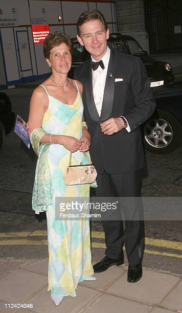 Anthony Andrews and wife during British Red Cross Ball- International Gala Event at Foreign And Commonwealth Office in London, Great Britain.