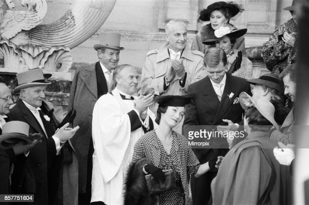 Anthony Andrews as King Edward VIII and Jane Seymour as Wallis Simpson on the set of 'The Woman He Loved ' in Chantilly 10th December 1987