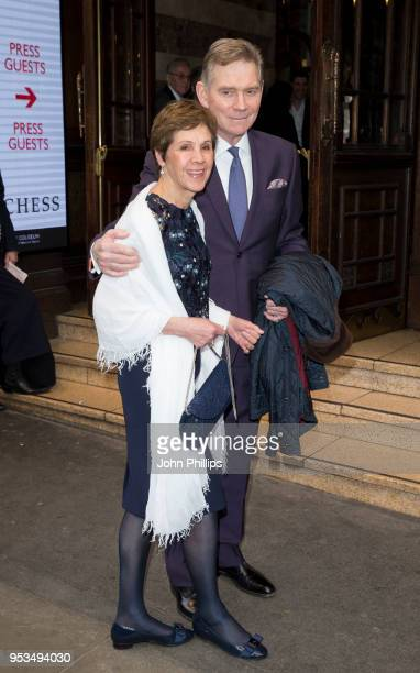 Anthony Andrews attends Chess The Musical press night at London Coliseum on May 1 2018 in London England
