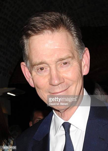 Anthony Andrews attends opening night of Barking In Essex at Wyndhams Theatre on September 16 2013 in London England