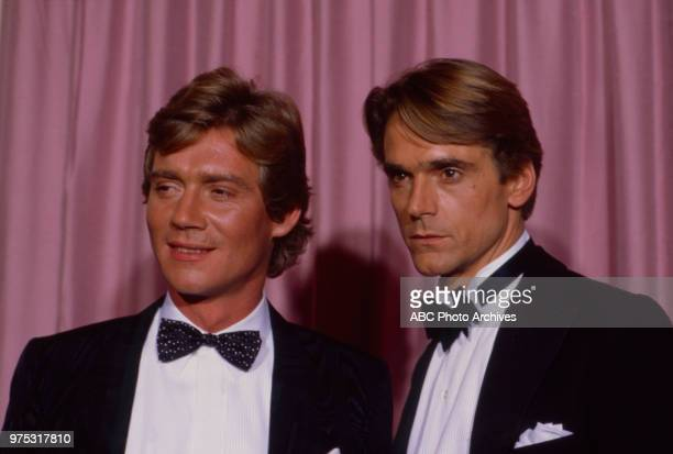 Anthony Andrews Jeremy Irons appearing at the 34th Primetime Emmy Awards Pasadena Civic Auditorium Pasadena CA September 19 1982