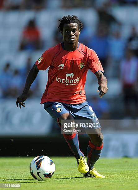 Anthony Annan of CA Osasuna in action during the La Liga match between RC Celta de Vigo and CA Osasuna at Estadio Balaidos on September 1 2012 in...