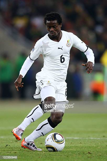 Anthony Annan of Ghana in action during the 2010 FIFA World Cup South Africa Group D match between Ghana and Germany at Soccer City Stadium on June...