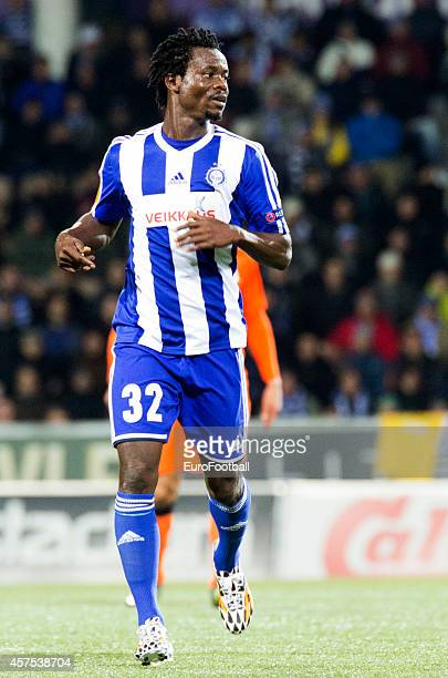 Anthony Annan of HJK Helsinki in action during UEFA Europa League group B match between HJK Helsinki and Club Brugge KV at the Sonera Stadium on...