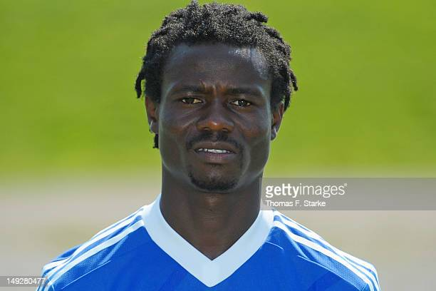 Anthony Annan poses during FC Schalke 04 team presentation at Glueckauf Kampfbahn on July 25 2012 in Gelsenkirchen Germany