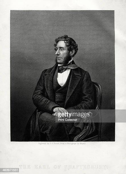 Anthony Ashley Cooper 7th Earl of Shaftesbury English philanthropist and politician c1880 Portrait of the earl published in a supplement to the...