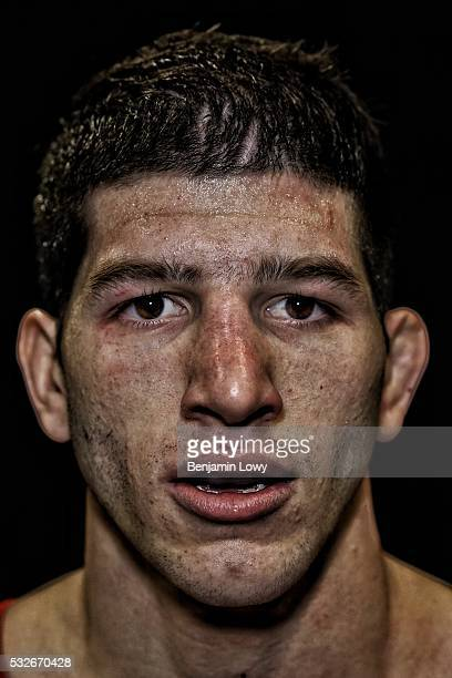 Anthony Ashnault, Rutgers University, hundred-and-forty-one-pound weight class. Portraits of wrestlers competing during the 2016 NCAA Division I...