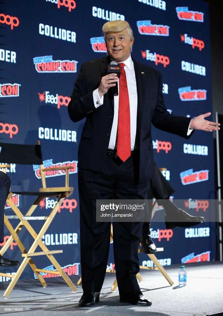 Anthony Atamanuik attends Comedy Central Presents: The President Show and Drunk History during the 2017 New York Comic Con - Day 2 on October 6, 2017 in New York City.