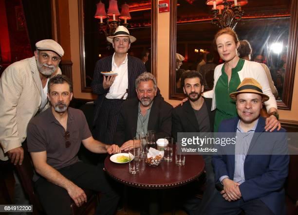 Anthony Azizi Dariush Kashani Jefferson Mays Jeff Still Michael Aronov and Jennifer Ehle and JT Rogers attends the 2017 New York Drama Critics'...