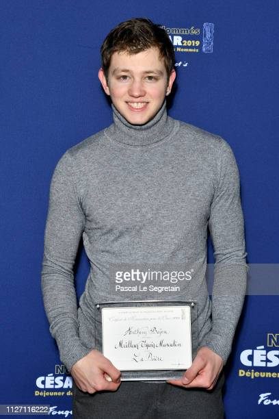 Anthony Bajon attends the Cesar 2019 nominee luncheon at Le Fouquet's on February 03 2019 in Paris France