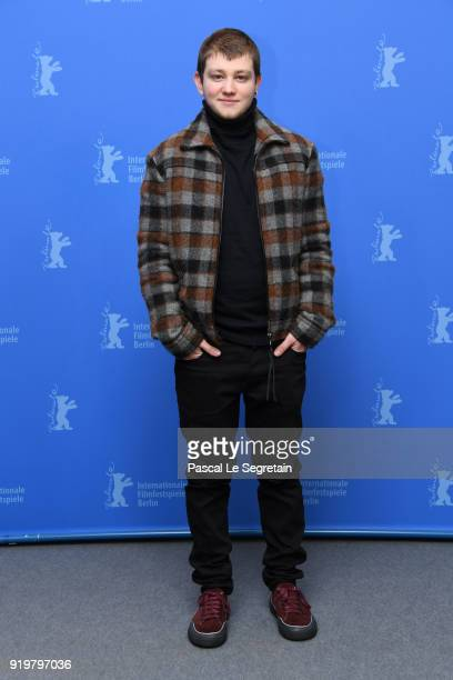 Anthony Bajon poses at the 'The Prayer' photo call during the 68th Berlinale International Film Festival Berlin at Grand Hyatt Hotel on February 18...