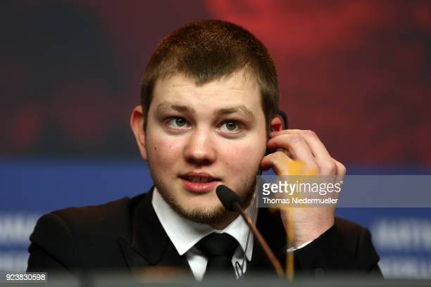 Anthony Bajon winner of the Silver Bear for Best Actor for 'The Prayer' attends the Award Winners press conference during the 68th Berlinale...