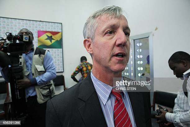 Anthony Banbury head of the UN Ebola response team speaks to the media on September 30 2014 in Accra Banbury vowed today to take swift action on the...