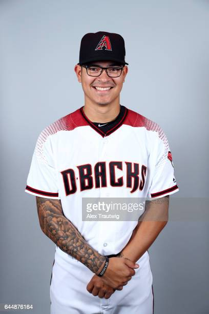 Anthony Banda of the Arizona Diamondbacks poses during Photo Day on Tuesday February 21 2017 at Salt River Fields at Talking Stick in Scottsdale...