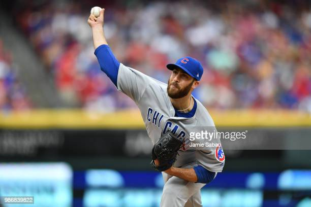 Anthony Bass of the Chicago Cubs pitches against the Cincinnati Reds at Great American Ball Park on June 23 2018 in Cincinnati Ohio