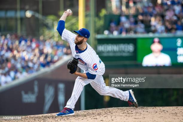 Anthony Bass of the Chicago Cubs pitches against the Minnesota Twins on June 29 2018 at Wrigley Field in Chicago Illinois The Cubs defeated the Twins...
