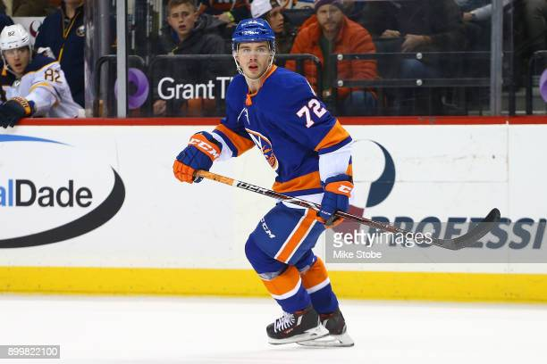 Anthony Beauvillier of the New York Islanders skates against the Buffalo Sabres at Barclays Center on December 27 2017 in New York City New York...