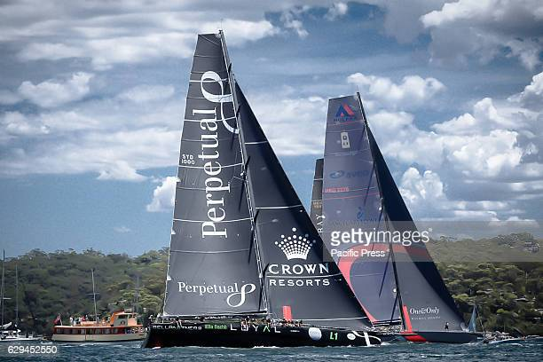 Anthony Bells 'Perpetual Loyal' and Hong Kongs SHLee's 'Scallywag' racing in the CYCA 2016 Big Boat Challenge on Sydney Harbour The Cruising Yacht...