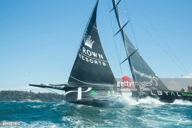 Anthony Bells 'Perpetual Loyal' pictured in heavy swell following the start of the Rolex Sydney Hobart Yacht Race 2016 on Monday 26th of December...