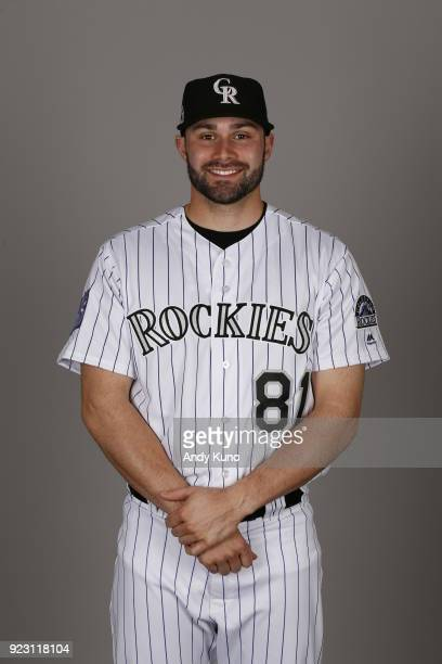 Anthony Bemboom of the Colorado Rockies poses during Photo Day on Thursday February 22 2018 at Salt River Fields at Talking Stick in Scottsdale...
