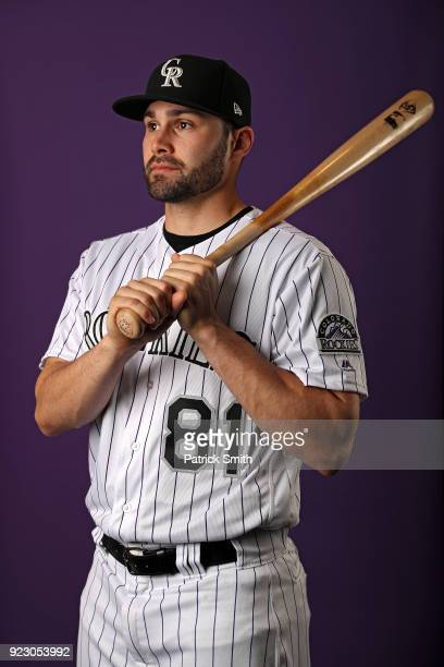 Anthony Bemboom of the Colorado Rockies poses on photo day during MLB Spring Training at Salt River Fields at Talking Stick on February 22 2018 in...
