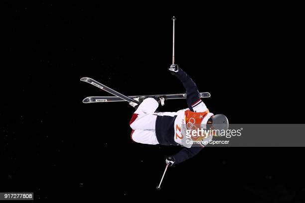Anthony Benna of France competes in the Freestyle Skiing Men's Moguls Final on day three of the PyeongChang 2018 Winter Olympic Games at Phoenix Snow...